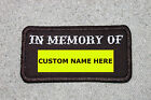 Customized IN MEMORY OF Patch Biker Vest Motorcycle Patch Memorial