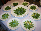 Schramberg, Antique German Majolica Lily of the Valley Plates, 1912-1928