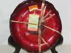 4 DECORADEA Hand Made in Turkey Red Glass 8