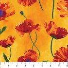 1 yard Poppy Passion by Elaine Quehl from Northcott 100 cotton fabric