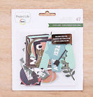 Becky Higgins Project Life EXPLORE 47 DIE CUT SHAPES scrapbooking 380614