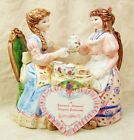 Music Box Victorian Tea For Two Party Figurine Lefton Yamada Collection