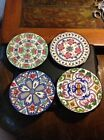 Ceraplat Hand Made In Spain Lot of 4 Coasters/Wall Plaques/Plates