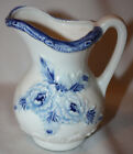Blue Rose Design Ceramic Cream Pitcher - Made in Japan