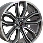 19 Gunmetal Machined Mustang Style Wheels 19x9 Set of 4 Rims Fits Ford CP