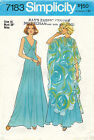 1970s VTG Simplicity Misses Poncho and Dress Pattern 7183 Size 16