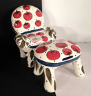 Bella Casa Ganz Ceramic Chairy Tomato Bank with Matching Footstool