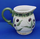 10 Oz Creamer Oneida OLIVETO Olives Leaves Green Trim 3.75