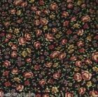 Black Floral Calico Home Dec Fabric 3/4 Yards Waverly Home Seasons Cotton 16597