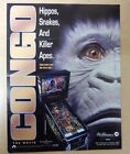 Original Williams Congo Pinball Game Advertising Flyer