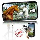 Samsung Galaxy S4 Case Cover Tempered Glass Film A3099 Horse Lover