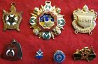 7 Masonic Medals, Pins Insignia items, some Unknown, some Sterling