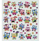 Scrapbooking Crafts Stickers Sticker King Owls Flowers Hearts Colorful Flowers
