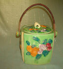 Vintage/Antique Pottery FRUIT MADE IN JAPAN BISQUIT COOKIE JAR Hand-Painted