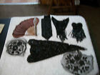 1920s Black glass beaded flapper accesories