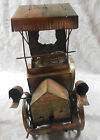 Very Cool Vintage~Metal~Copper~ Music Box ~ Car ~ Wind Up