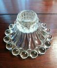 Boopie Anchor hocking clear glass candle holder vintage