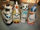 Vintage Chicken Cow Duck and Cat salt pepper spice shakers