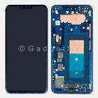 Blue OLED Display LCD Touch Screen Digitizer Frame Replacement For LG V40 ThinQ