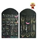 Holder Jewelry Hanging Organizer Display Earring Necklace Storage Bag Rack Wall