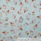 BonEful Fabric FQ Cotton Quilt Blue Tan White Pug French Bulldog Dog Boy Girl US