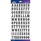 Scrapbooking Crafts Sticko Stickers Alphabet Numbers Black Glitter Carnival