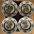 WOODS AND SONS ENGLAND ASCOT SERVICE PLATES SET OF 4  WALL PLATES - GORGEOUS