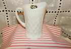 VINTAGE ANCHOR HOCKING MILK GLASS CREAMER PITCHER PINEAPPLE PATTERN EAPC~NOS