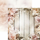 Reminisce ROMANCE 12x12 Dbl Sided 2pc Scrapbooking Paper ROSES