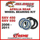 MX Rear Wheel Bearing Kit APRILIA SXV450 SXV550 SXV 450 550 2006-2011, All Balls
