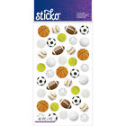 Scrapbooking Stickers Sticko Crafts Sports Balls Soccer Basketball Football +++