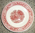 VINTAGE ROYAL IRONSTONE U.S.A. RED MEMORY LANE COUNTRY FARM, LARGE SERVING BOWL