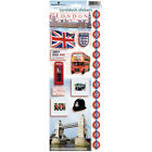 Scrapbooking Stickers Paper House 13 London Tour Bus Guards Phone Booth Flag