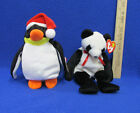 TY Beanie Babies Plush Original Stuffed Animals 1997 Fortune & 1998 Zero Lot 2