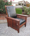 antique GUSTAV STICKLEY  spindle   EARLY    Morris Chair   roycroft era   w4016