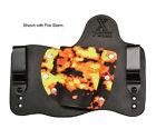 FoxX Leather  Kydex IWB Holster Pick Your Gun Black  Fire Storm Right Hand