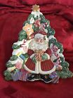 LoOk ~ FITZ And FLOYD Canapé PLATE Christmas Tree Santa Gingerbread Candy Gifts