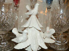 FITZ & FLOYD CHRISTMAS TREE CANDLE HOLDER WITH DOVES