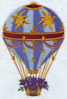SUNNY DAYS HOT AIR BALLOON-- EMBROIDERED QUILT BLOCK(AZEB)
