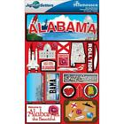Scrapbooking Crafts Stickers 3D Alabama License Plate Gulf Shores Suitcase Plane