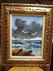 Early Circa 1971 Morris Katz Seascape w/ Gulls Oil Painting