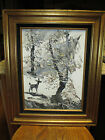 Early Circa 1989 Morris Katz Winter Landscape Painting