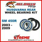 MX Rear Wheel Bearing Kit Husqvarna SM450R SM 450R 2003-2009, All Balls 25-1420