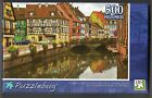 500 Pc Jigsaw Puzzle Colorful Street w/ Beautiful Half Timbered Houses Puzzlebug