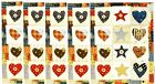 5 Sheets Hearts and Stars QUILT Scrapbook Hallmark Stickers