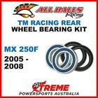 Rear Wheel Bearing Kit TM Racing MX250F MX 250F MXF250 2005-2008, All Balls 25-1