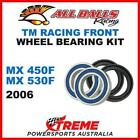 MX Front Wheel Bearing Kit TM Racing MX450F MX530F 2006 Dirt Bike, All Balls 25-