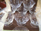 Set of 9 Etched Glass Berry/Dessert Footed Bowls