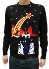 Christmas Xmas JUMPER vtg indie retro 80s Nativity novelty Jesus Kitsch Ugly
