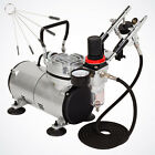 02mm 035mm Dual Action Airbrush Kit Air Compressor Brush Holder Hose 1 8 1 8
